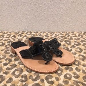 Jack Rogers Patent Leather Sandals